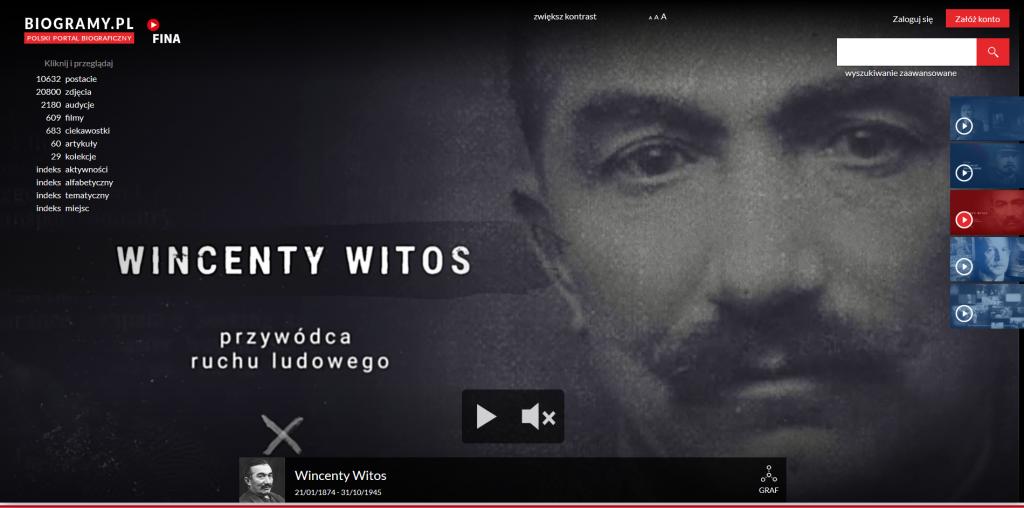 screen ze strony biogramy.pl