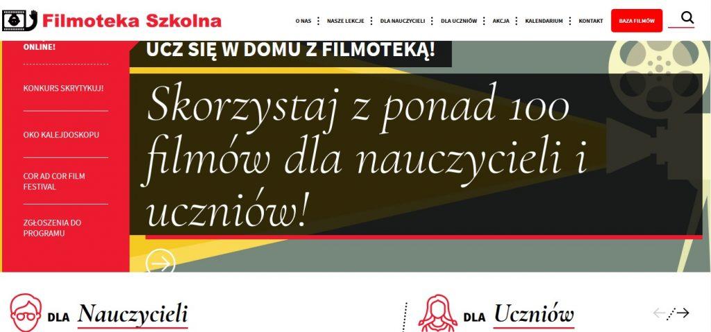 screen ze strony Filmoteka Szkolna